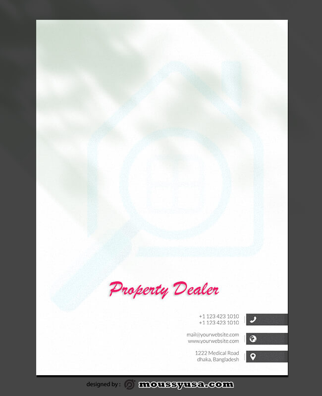 PSD Template For Property Dealer Letterhead