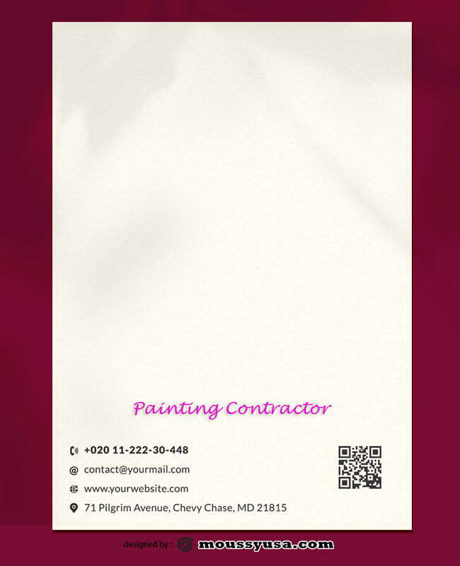 Painting Contractor Letterhead Templates Ideas