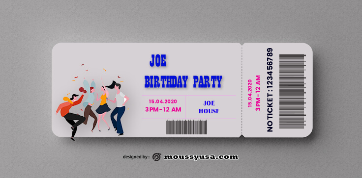 Party Ticket Design PSD