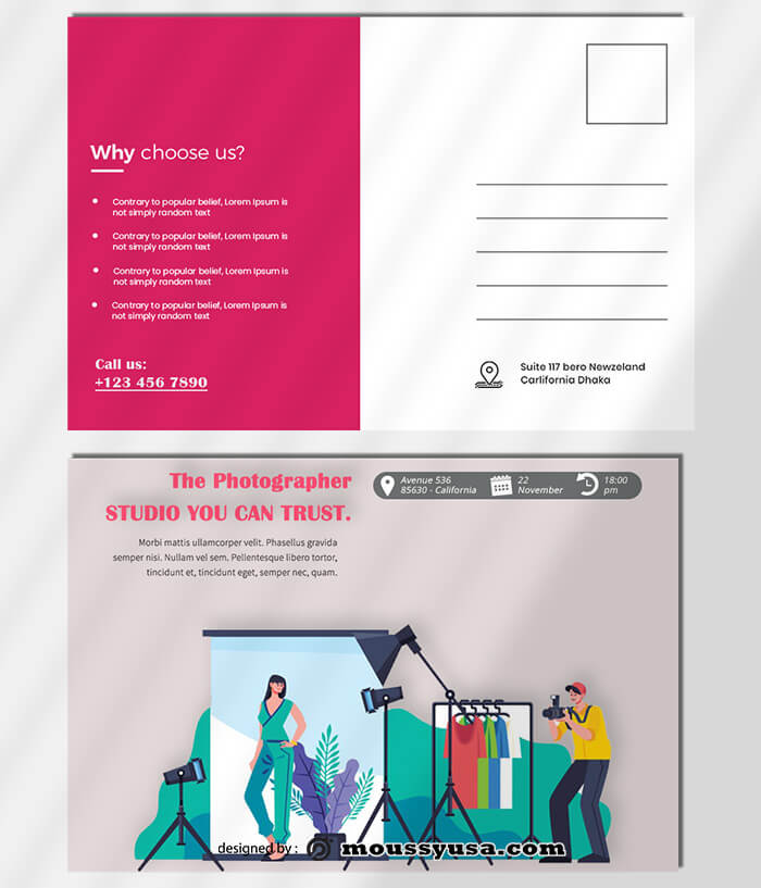 Photographer Postcard Template Example