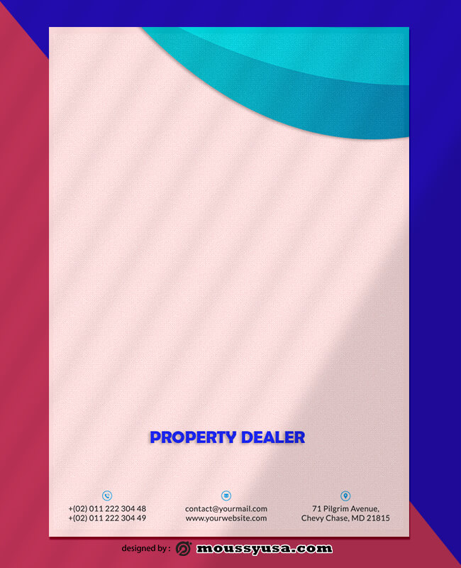 Property Dealer Letterhead Design PSD
