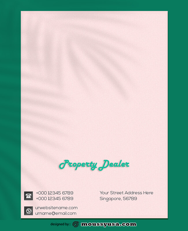 Property Dealer Letterhead Template Example