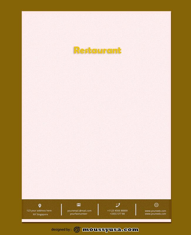 Restaurant Lettterhead Template Ideas