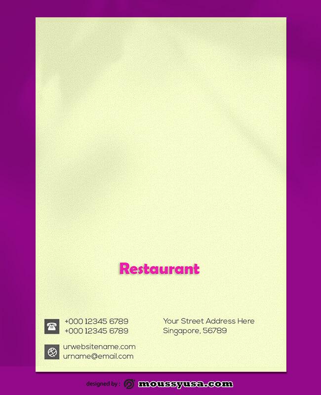 Restaurant Lettterhead Template Sample