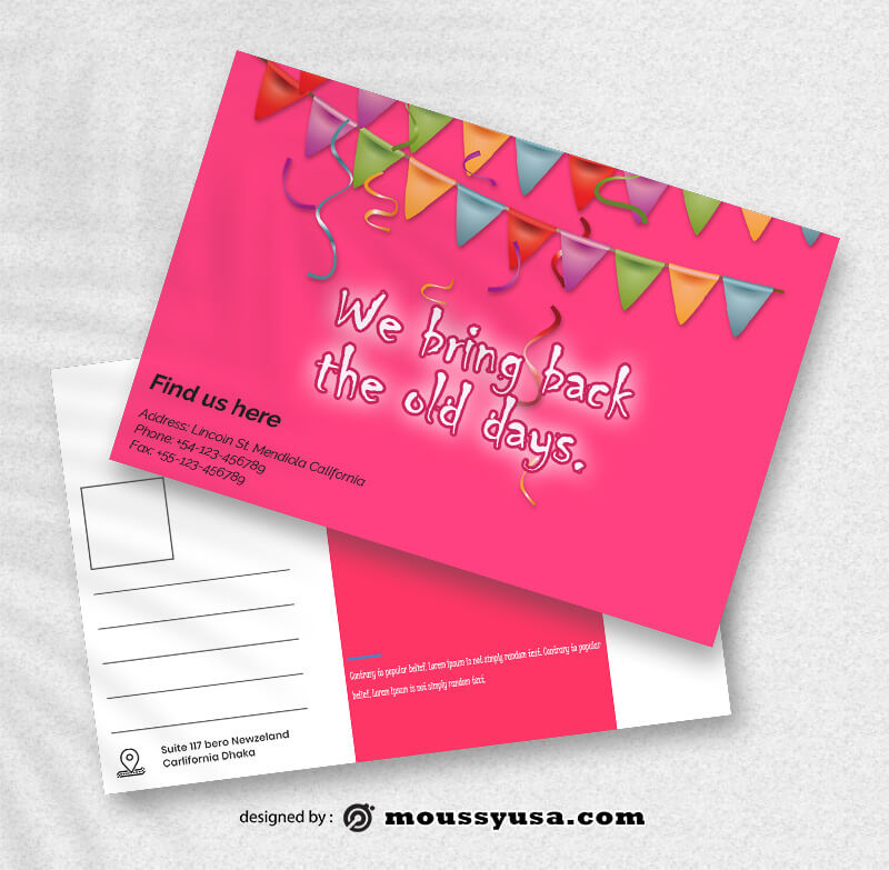 Sample Birthday PostCard Templates