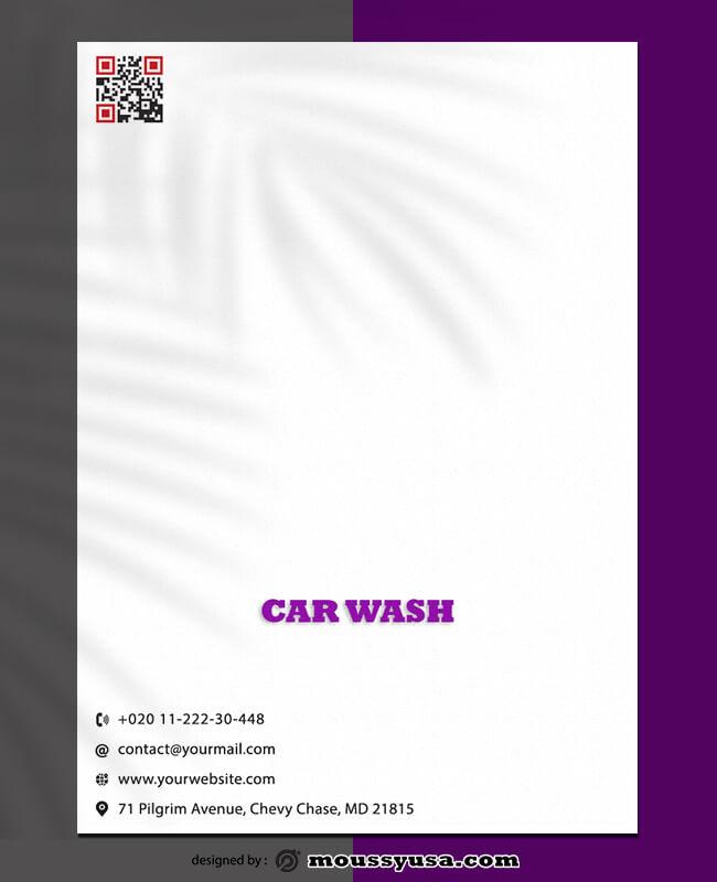 Sample Car Wash Lettterhead Template