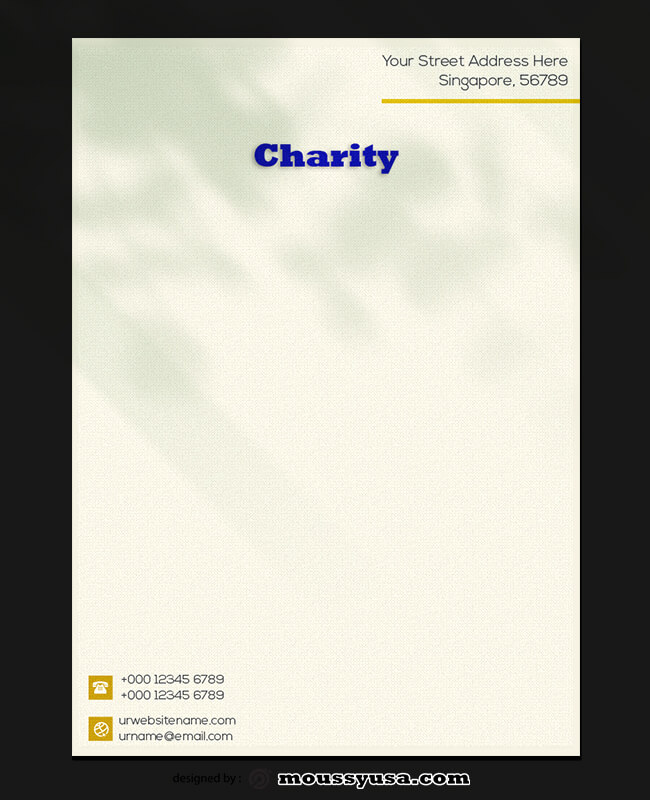 Sample Charity Letterhead Template