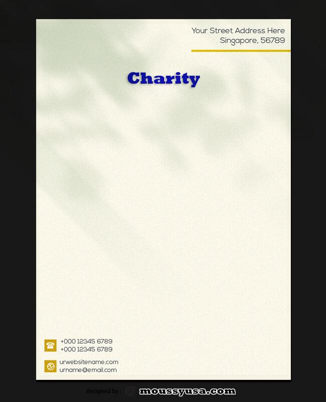 Sample Charity Letterhead Template
