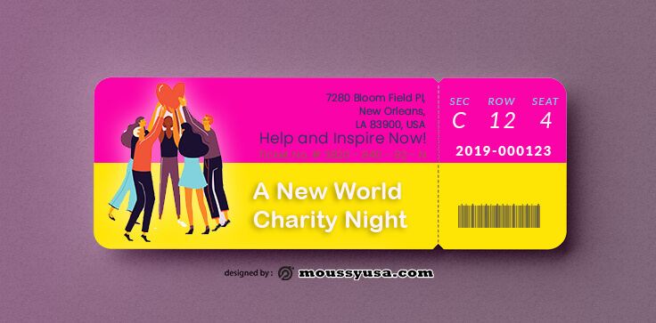 Sample Charity Ticket Templates