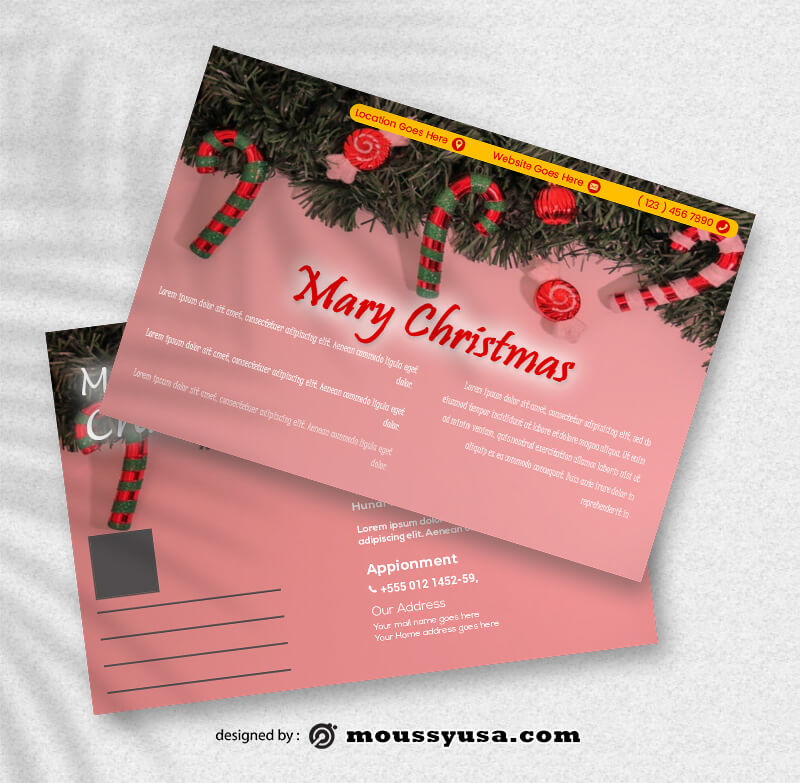 Sample Christmas Postcard Templates
