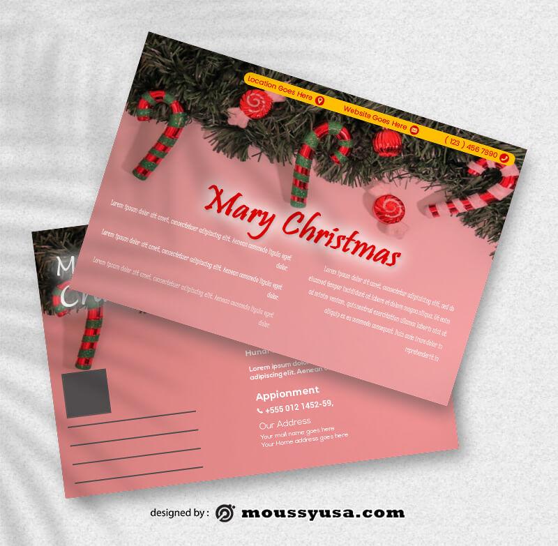 Sample Christmas Postcard Templates