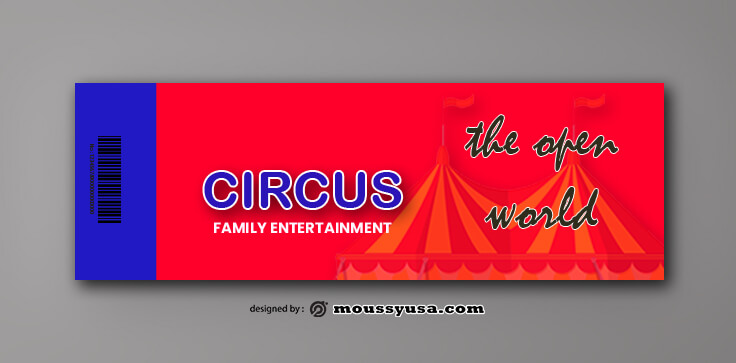 Sample Circus Ticket Template