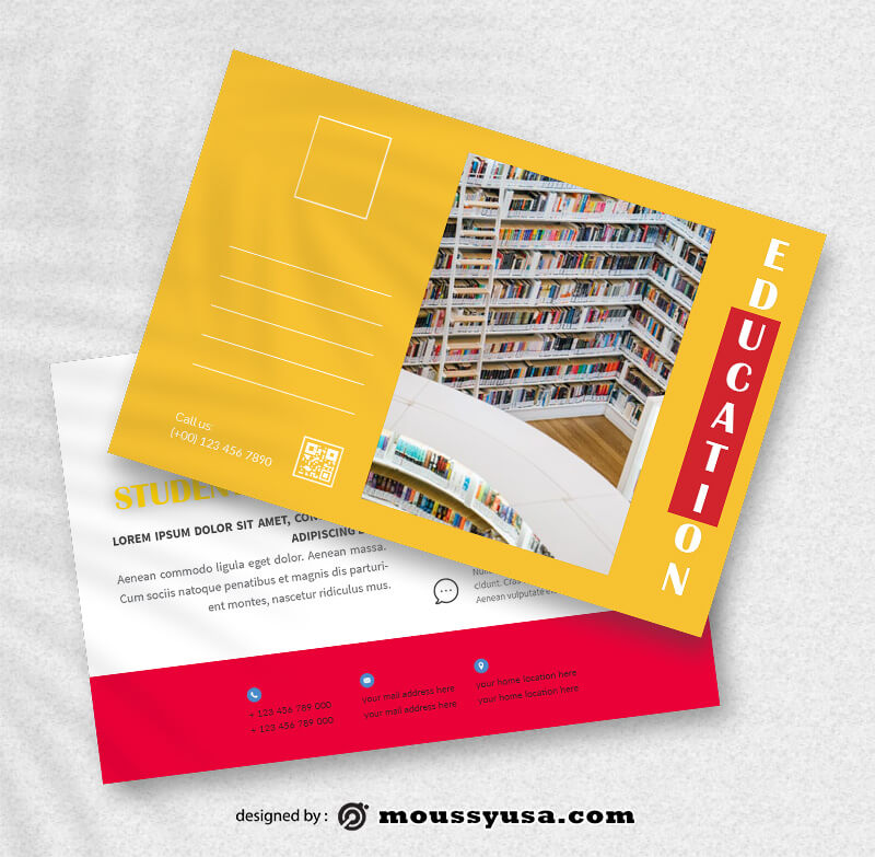 Sample Education Postcard Templates