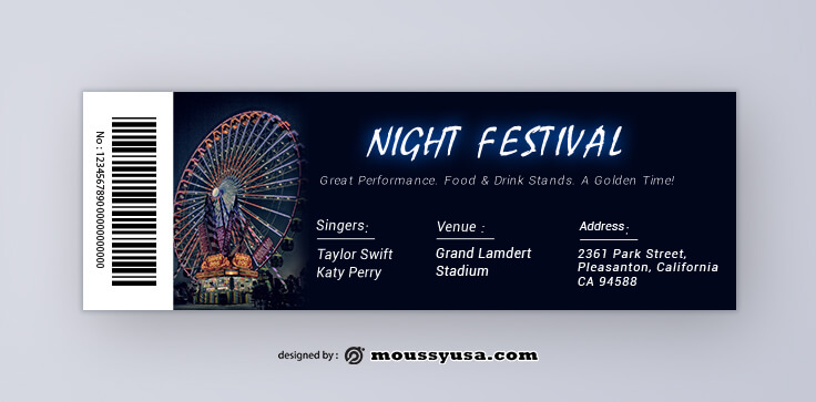 Sample Festival Ticket Templates