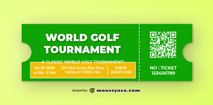 Sample Golf Ticket Templates