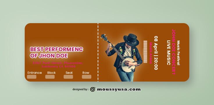 Sample Music Concert Ticket Ideas