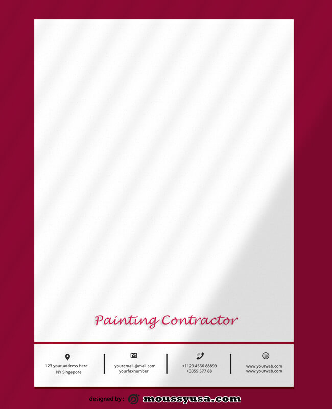 Sample Painting Contractor Letterhead Design