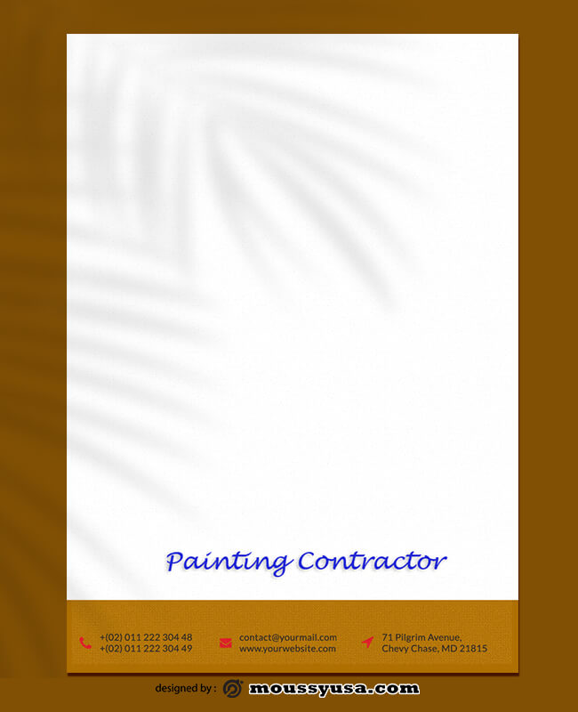 Sample Painting Contractor Letterhead Templates