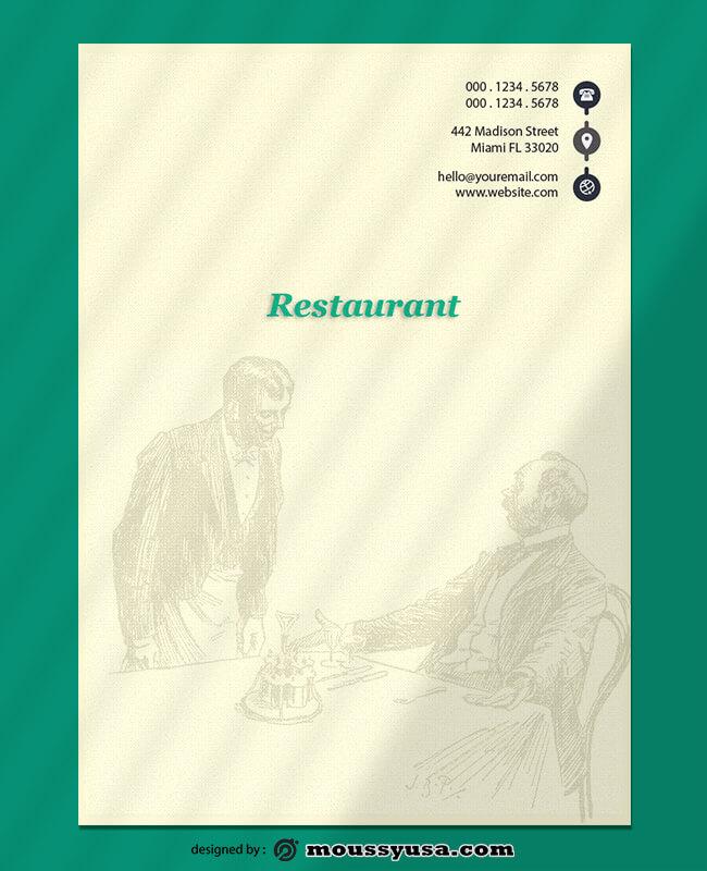 Sample Restaurant Lettterhead Template