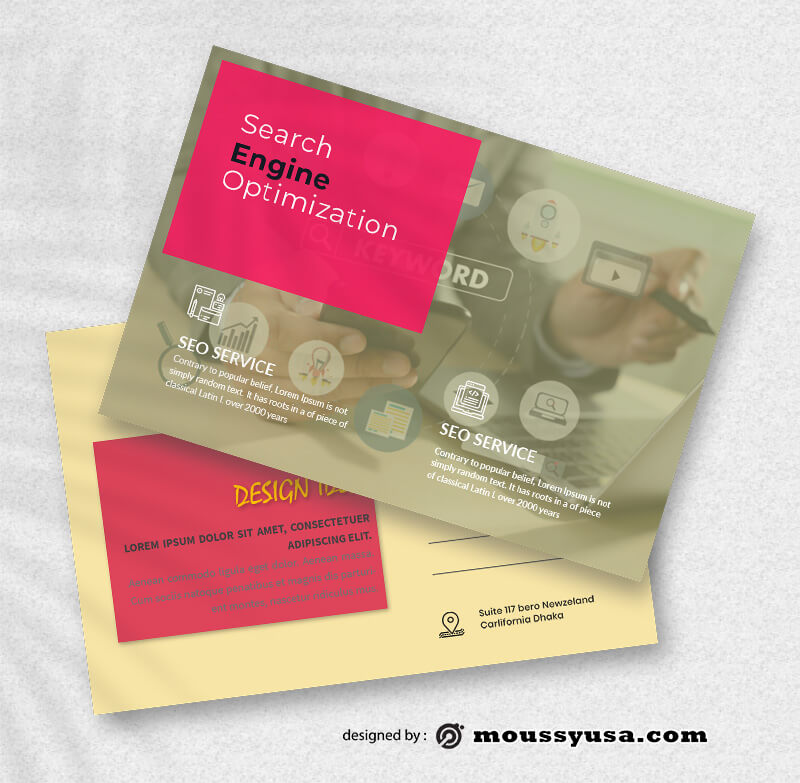 Sample SEO Postcard Templates