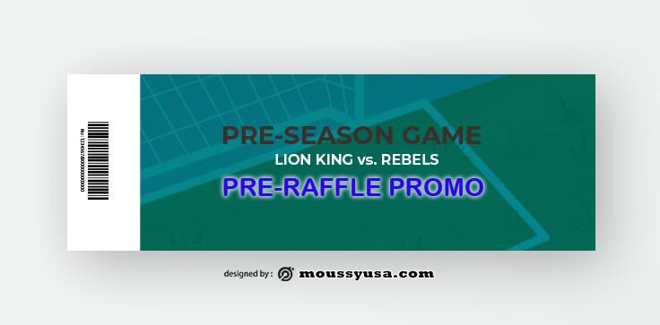 Sample Soccer Ticket Templates