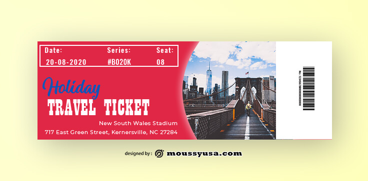 Sample Travel Ticket Templates