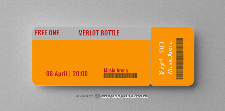 Sample Wine Drink Ticket Templates