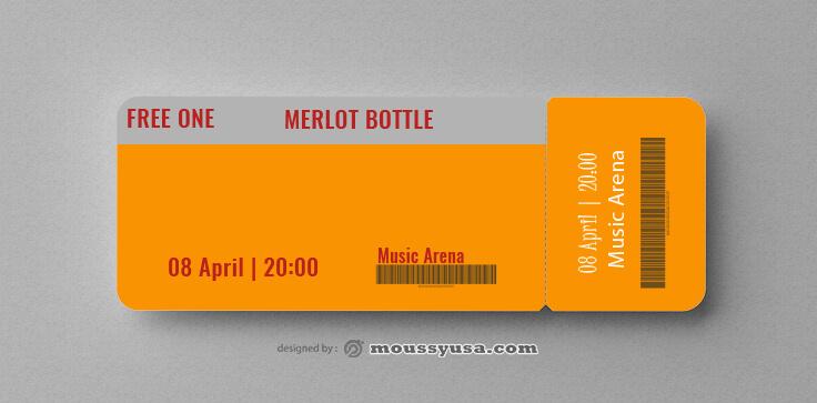 Sample Wine Drink Ticket Templates