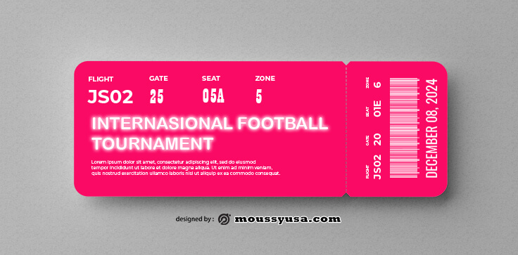 Soccer Ticket Templates Design