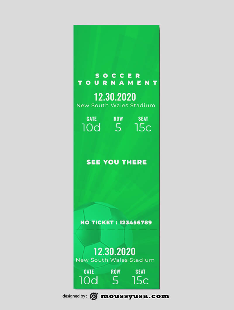 Soccer Ticket Templates Ideas