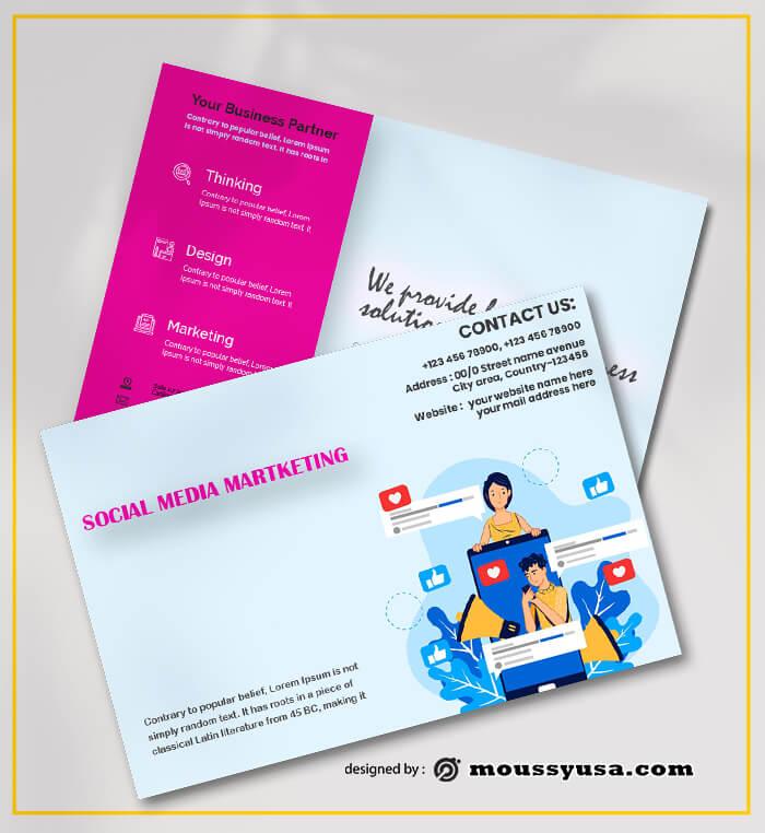 Social Media Marketing Postcard Template Design