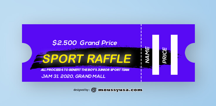 Sport Raffle Ticket Template Example