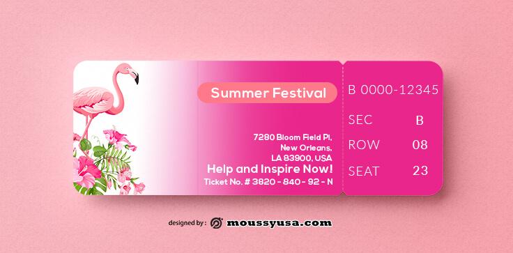 Summer Festival Ticket Template Ideas