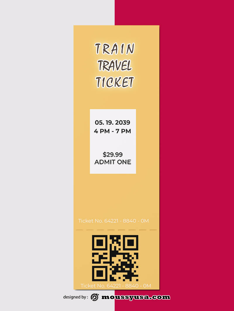 Train Ticket Design Ideas