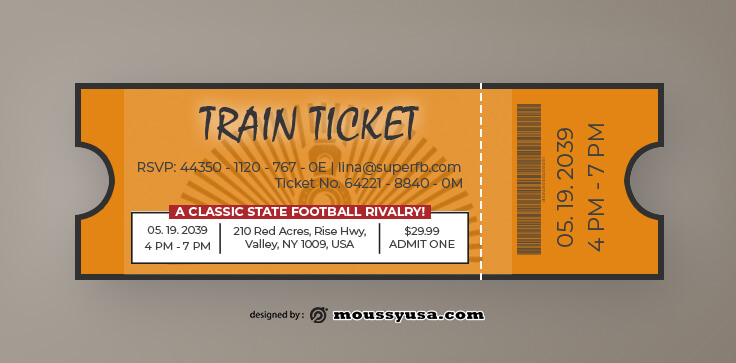 Train Ticket Design Template