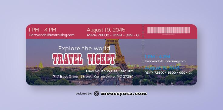 Travel Ticket Template Ideas