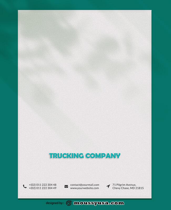 Trucking Company Letterhead Design Template