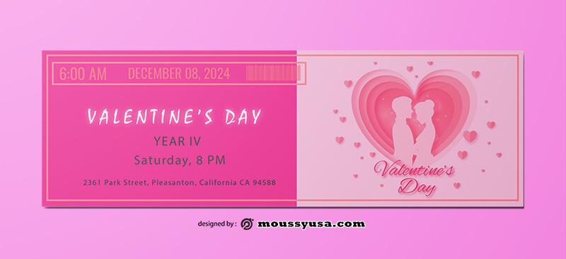 Valentine Day Ticket Design Ideas