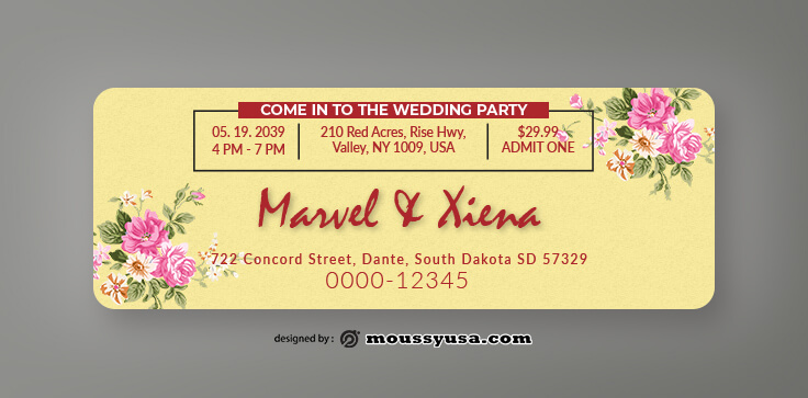 Wedding Invitation Ticket Design Ideas