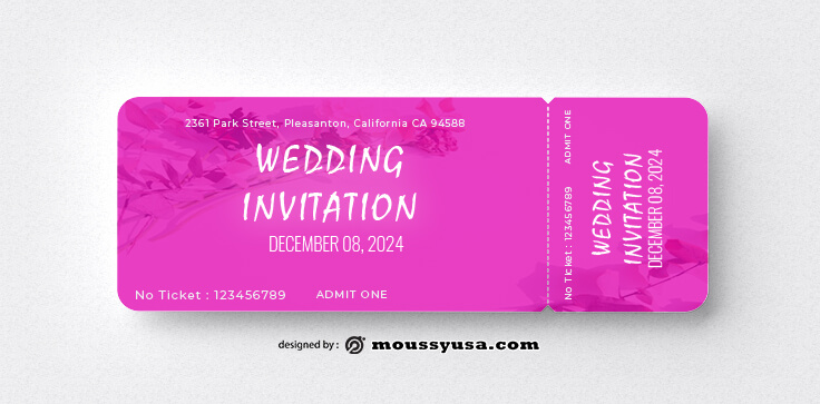 Wedding Ticket Template Ideas