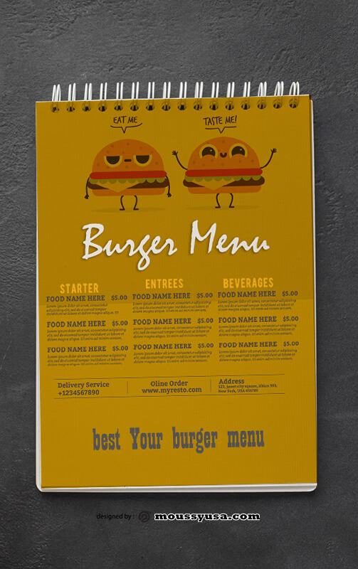 Burger Menu Design Ideas