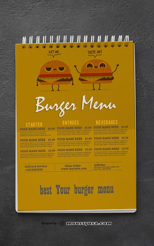 Burger Menu Design Ideas