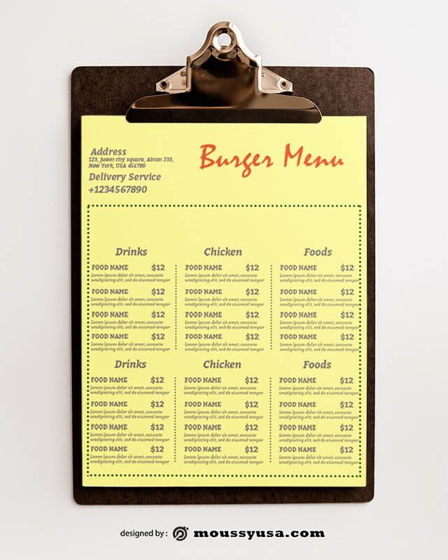 Burger Menu Design templates