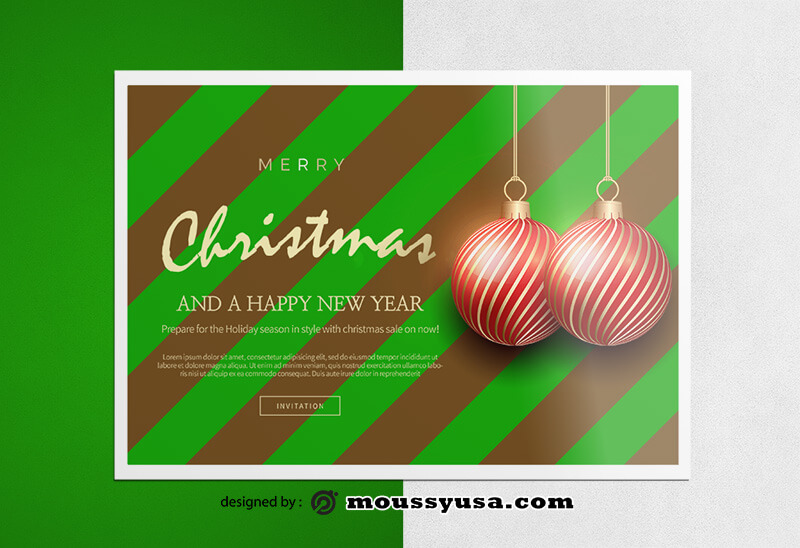 Christmas Greeting Card templates Sample