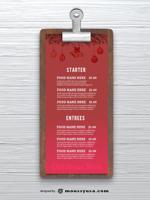 Christmas Menu templates Design
