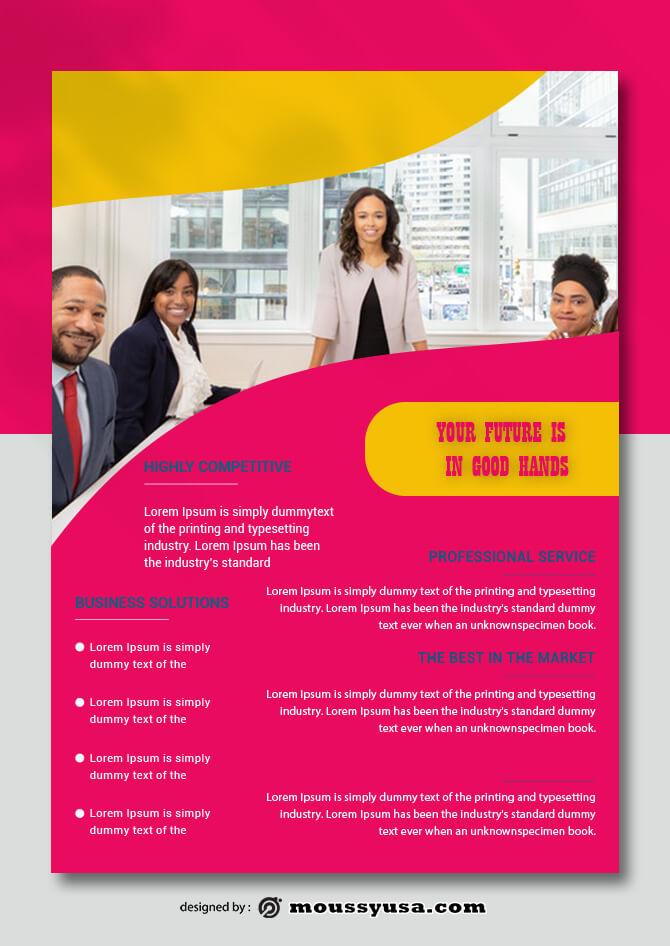 Company Profile Data Sheet Design PSD