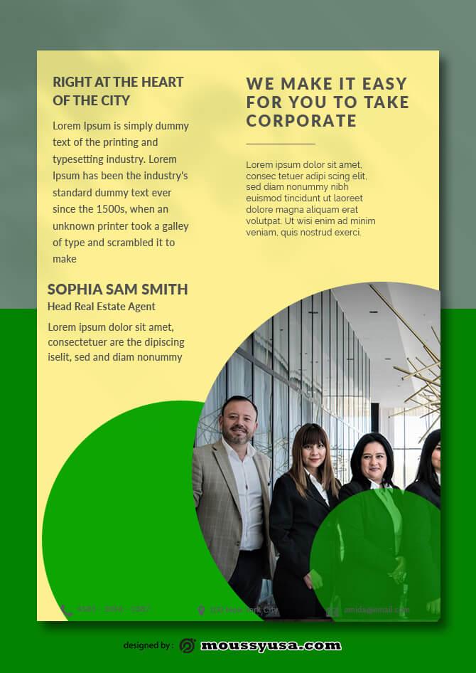 Corporate Data Sheet templates Design