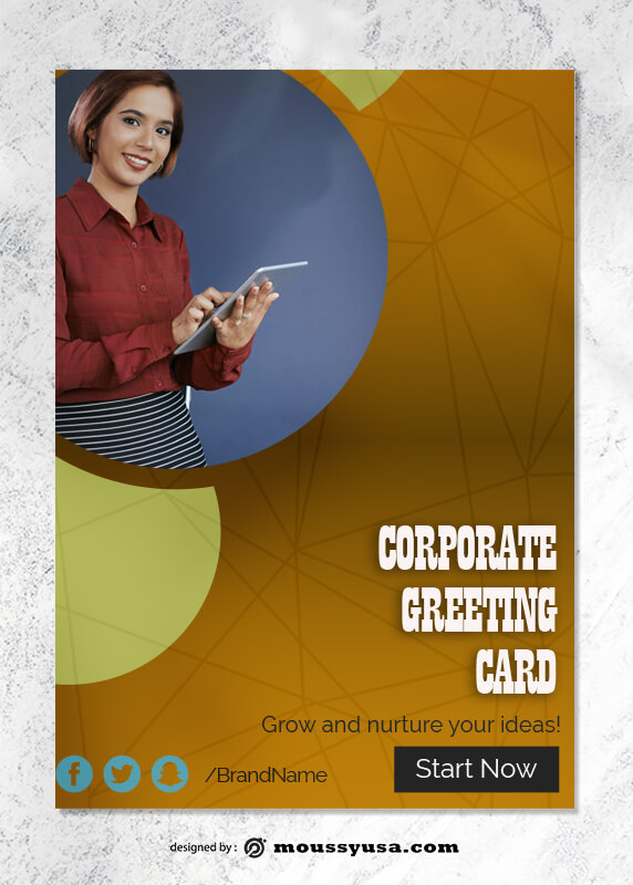 Corporate Greeting Card templates Ideas