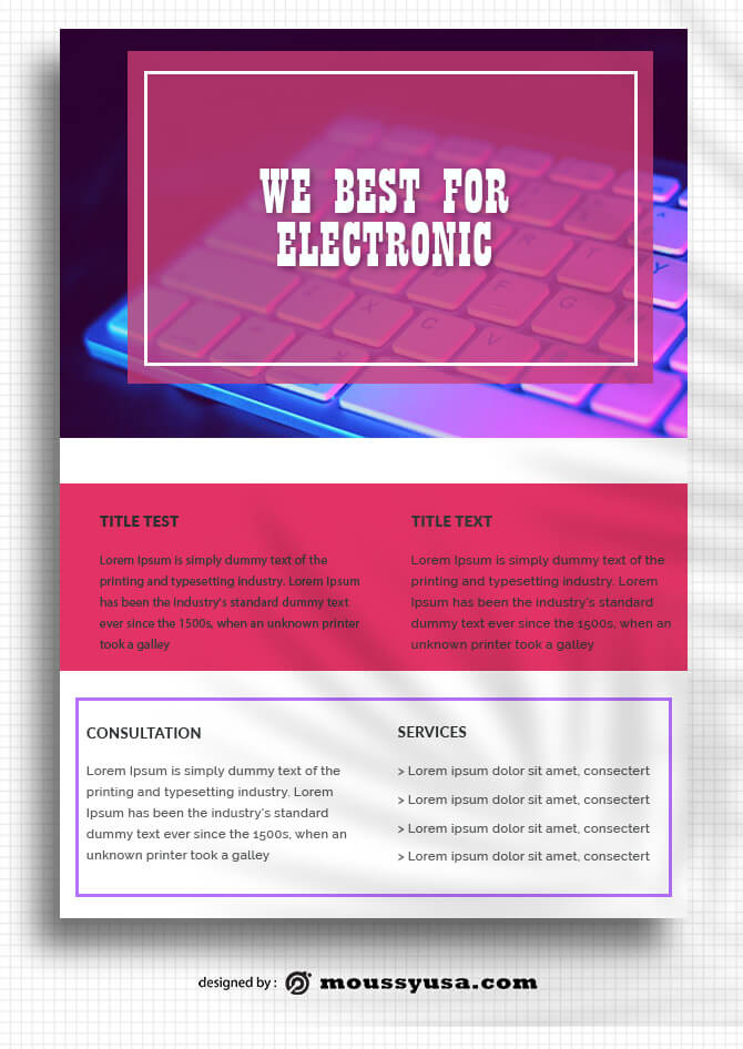 Electronics Data Sheet templates Sample