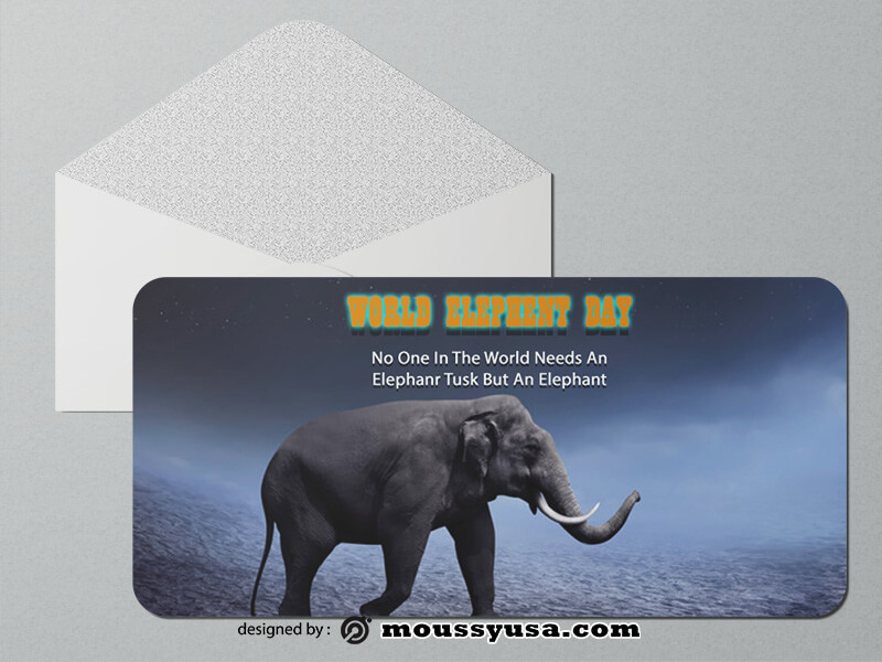 Elephent Greeting Card templates Design